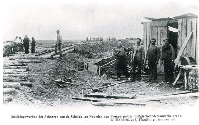 Aanleg van de Hedwigepolder in 1904